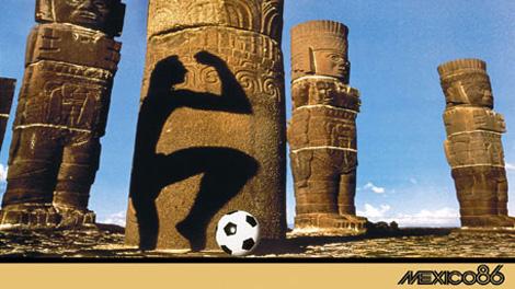 Плакат чемпионата мира 1986 года uefa com